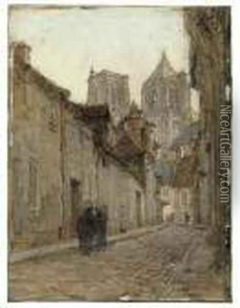 Rue A Bourges Oil Painting - Leon Augustin Lhermitte