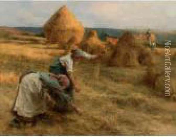 The Gleaners Oil Painting - Leon Augustin Lhermitte