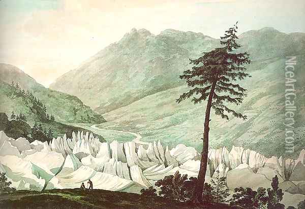 The Glacier of Grindelwald 1770 Oil Painting - William Pars