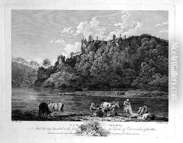 View of Lismore Castle, County Waterford, Ireland, engraved by Thomas Milton 1743-1827 1786 Oil Painting - William Pars