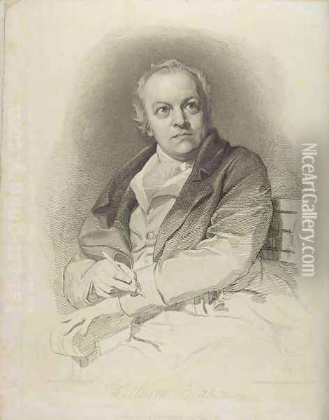 Portrait of William Blake, frontispiece from The Grave, A Poem by William Blake 1757-1827 engraved by Luigi Schiavonetti 1765-1810 1808 Oil Painting - Thomas Phillips