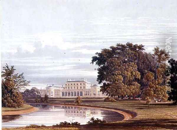 Frogmore, Windsor from Pynes Royal Residences, 1818 Oil Painting - William Henry Pyne