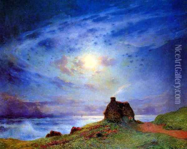 The Customs Cabin Oil Painting - Ferdinand Loyen Du Puigaudeau