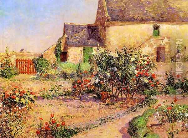 The Garden at Kervaudu Oil Painting - Ferdinand Loyen Du Puigaudeau