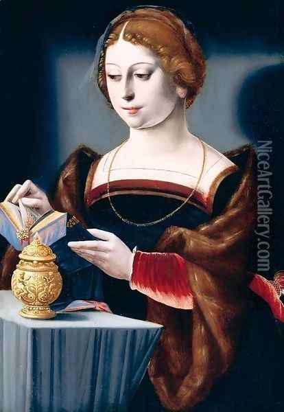 Mary Magdalen (2) 1525-50 Oil Painting - Master of the Parrot