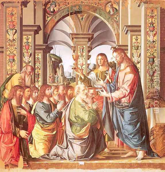 The First Communion of the Apostles 1506 Oil Painting - Marco Palmezzano