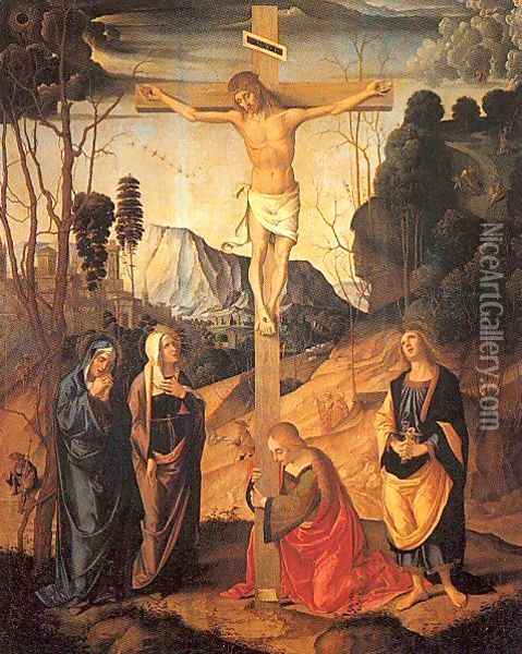 The Crucifixion Oil Painting - Marco Palmezzano