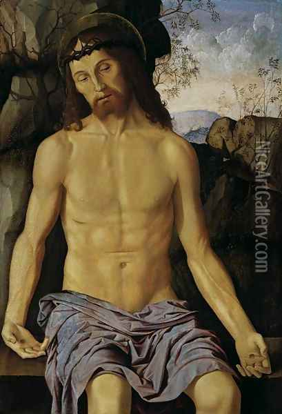 Christ as the Man of Sorrows Oil Painting - Marco Palmezzano