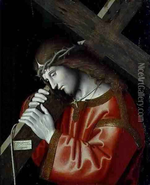 Christ Carrying His Cross 1535 Oil Painting - Marco Palmezzano