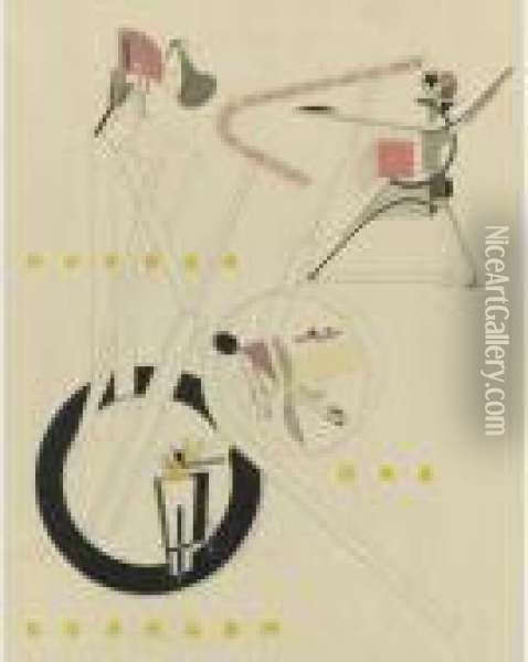 Plastic Figures Of The Electro-mechanical Show From Victory Over The Sun Oil Painting - Eliezer Markowich Lissitzky