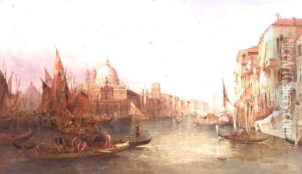 A View of the Grand Canal, Venice Oil Painting - Alfred Pollentine
