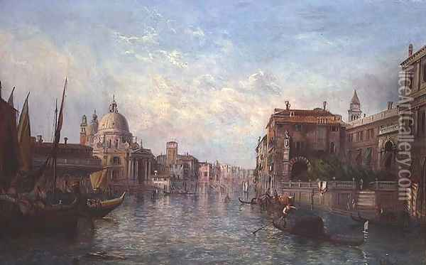 View of the Grand Canal, Venice Oil Painting - Alfred Pollentine