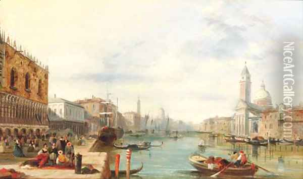 The Grand Canal, Venice 3 Oil Painting - Alfred Pollentine