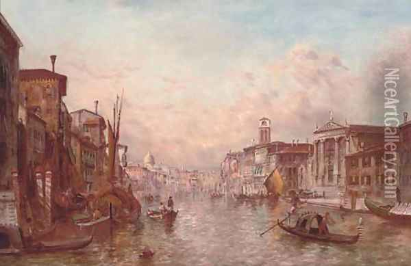 The Grand Canal, Venice 6 Oil Painting - Alfred Pollentine