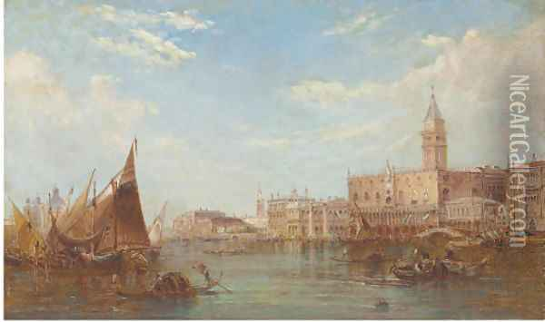 The Doge's Palace, Grand Canal, Venice Oil Painting - Alfred Pollentine