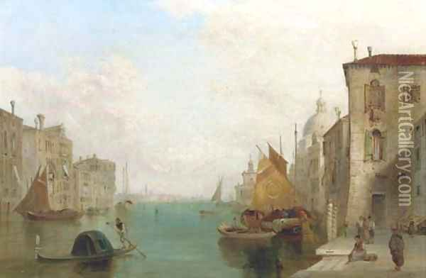 The Grand Canal, Venice 2 Oil Painting - Alfred Pollentine
