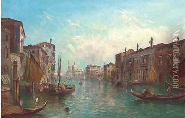 The Grand Canal, Venice 7 Oil Painting - Alfred Pollentine