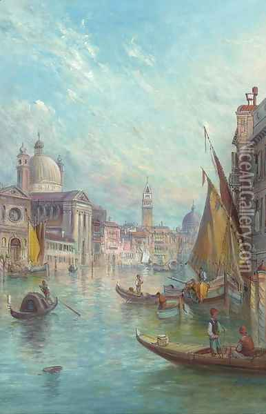 The Giudecca Canals Oil Painting - Alfred Pollentine