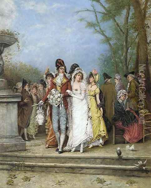 The wedding party Oil Painting - Alonso Perez