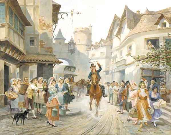 The arrival Oil Painting - Alonso Perez