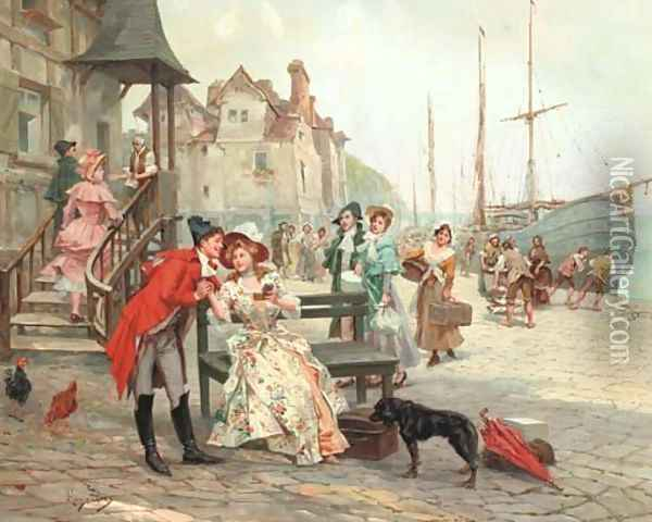The Proposal Oil Painting - Alonso Perez