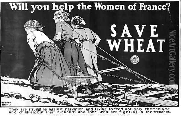 Will you Help the Women of France World War One poster Oil Painting - Edward Penfield