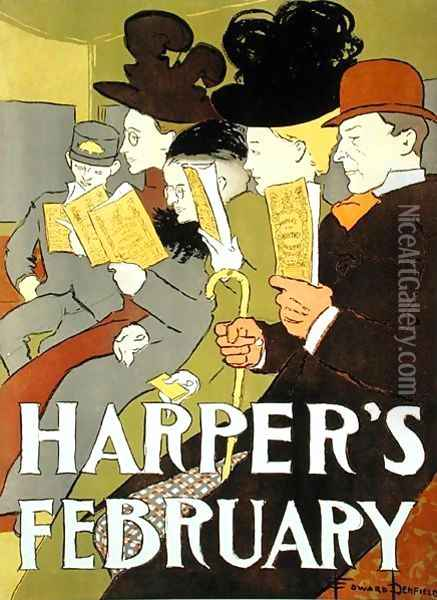 Cover illustration for Harpers magazine, 1896 Oil Painting - Edward Penfield