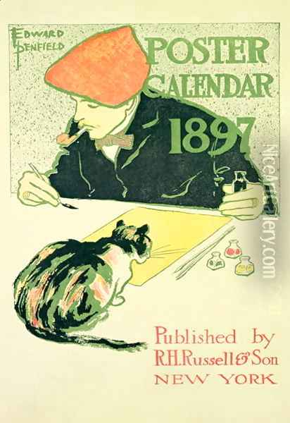 Poster Calendar, pub. by R.H. Russell and Son, 1897 Oil Painting - Edward Penfield