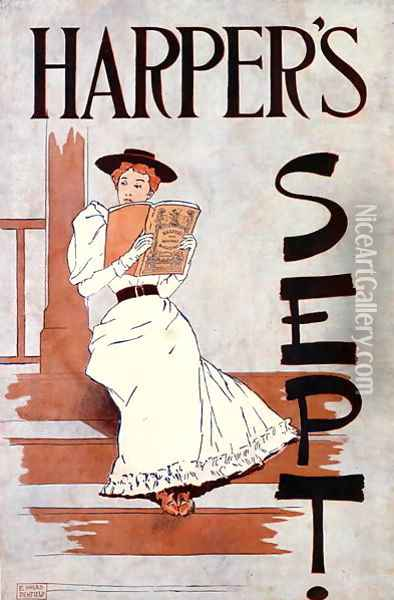 Harpers Sept., 1896 Oil Painting - Edward Penfield