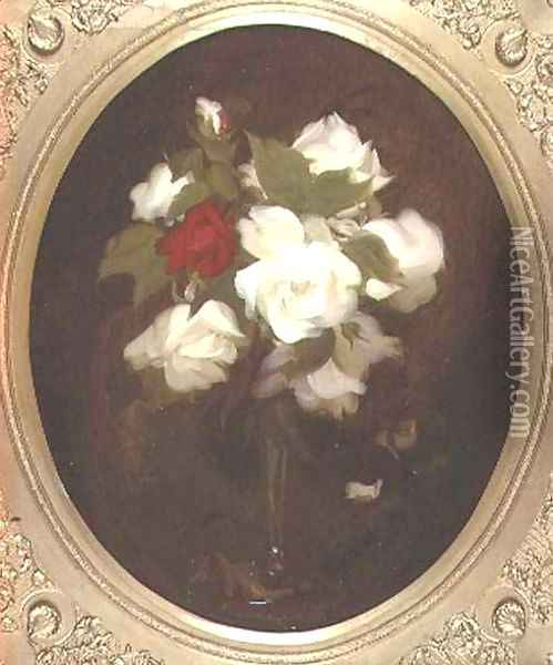 Still Life with Roses Oil Painting - James Stuart Park