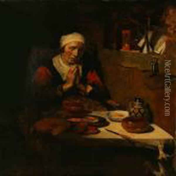 The Never-ending Prayer Oil Painting - Nicolaes Maes