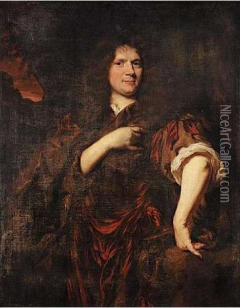 Portrait Of Laurence Hyde, Earl Of Rochester Oil Painting - Nicolaes Maes