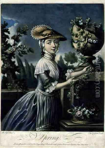 Spring, engraved by C. Corbutt Richard Purcell fl.1746-66, pub. by Robert Sayer, c.1760 Oil Painting - Pyle, Robert
