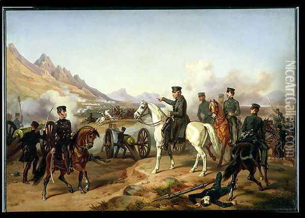 General Zachary Taylor at the Battle of Buena Vista in 1847 Oil Painting - William H. Powell