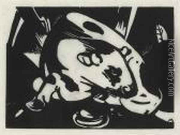 Der Stier Oil Painting - Franz Marc