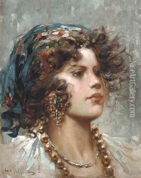 A young beauty Oil Painting - Luca Postiglione