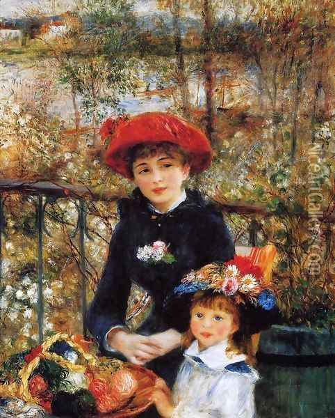Two Sisters Aka On The Terrace Oil Painting - Pierre Auguste Renoir