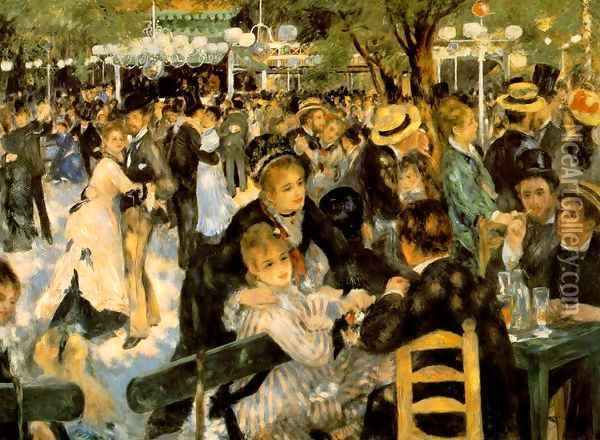 Dance At The Moulin De La Galette Oil Painting - Pierre Auguste Renoir