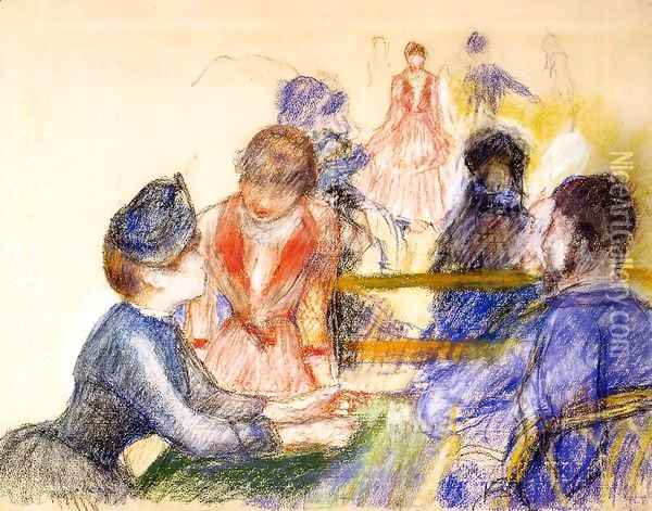 At The Moulin De La Galette Oil Painting - Pierre Auguste Renoir
