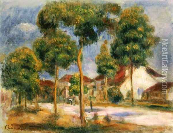 A Sunny Street Oil Painting - Pierre Auguste Renoir