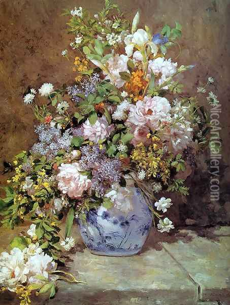 Spring Bouquet Oil Painting - Pierre Auguste Renoir