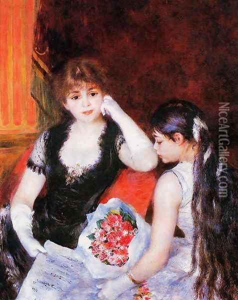 At The Concert Aka Box At The Opera Oil Painting - Pierre Auguste Renoir