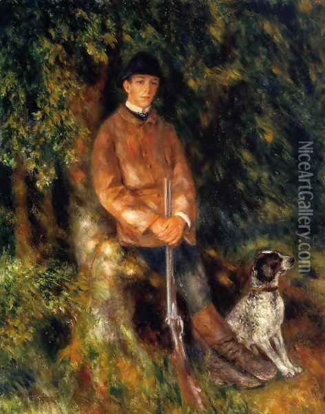 Alfred Berard And His Dog Oil Painting - Pierre Auguste Renoir
