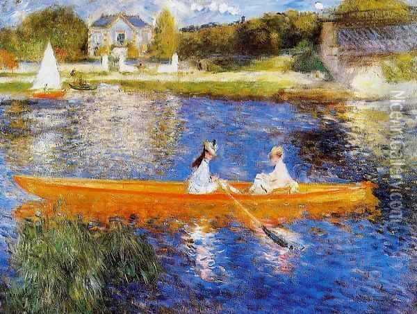 The Seine At Asnieres Aka The Skiff Oil Painting - Pierre Auguste Renoir