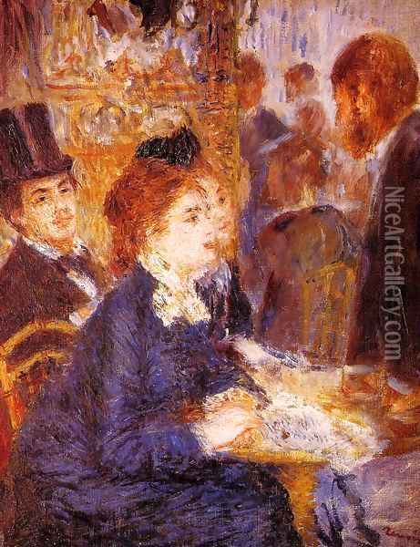 At The Cafe2 Oil Painting - Pierre Auguste Renoir