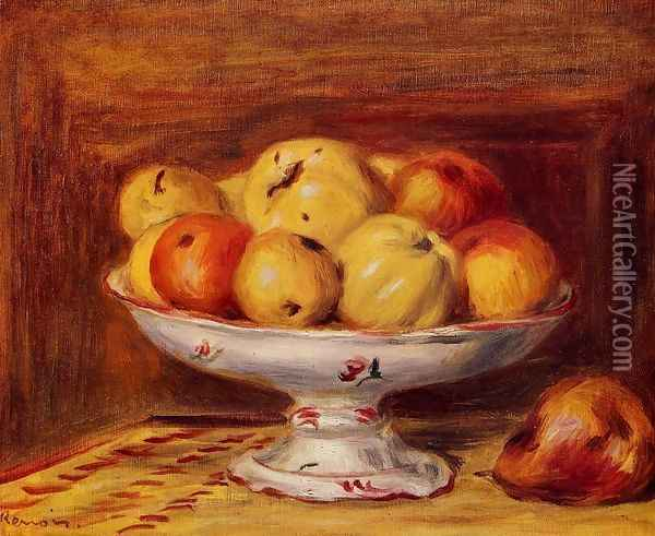 Still Life With Apples And Pears Oil Painting - Pierre Auguste Renoir
