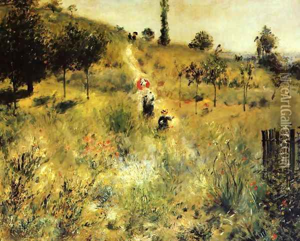 Path Leading Through Tall Grass Oil Painting - Pierre Auguste Renoir