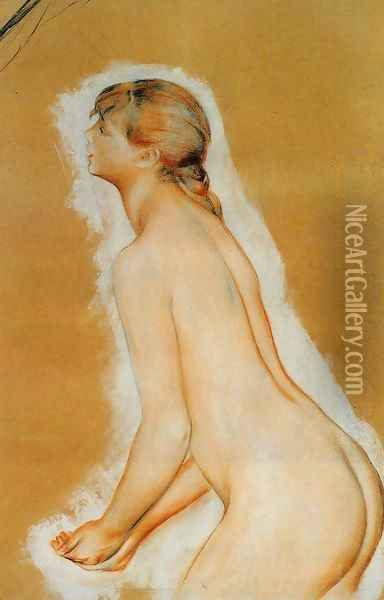 Nude Aka Study For The Large Bathers Oil Painting - Pierre Auguste Renoir