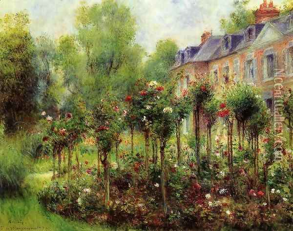 The Rose Garden At Wargemont Oil Painting - Pierre Auguste Renoir