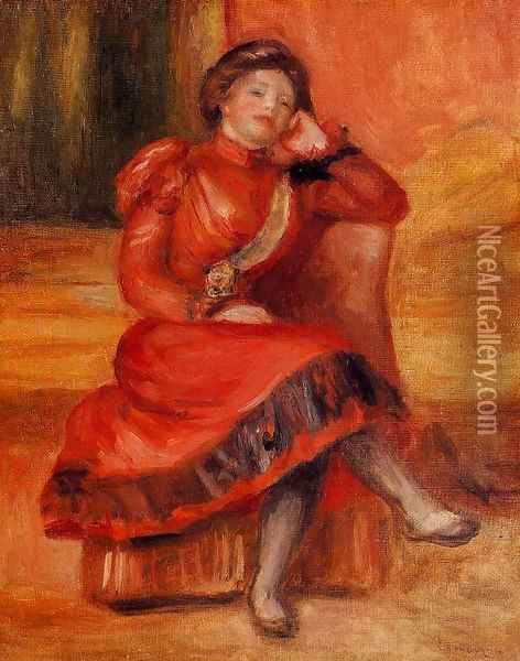 Spanish Dancer In A Red Dress Oil Painting - Pierre Auguste Renoir